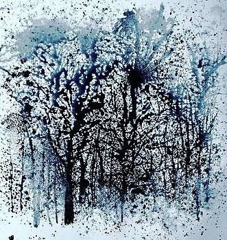Winter Trees at Twilight by Julia S Powell