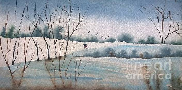 Winter Hike  by Eunice Miller