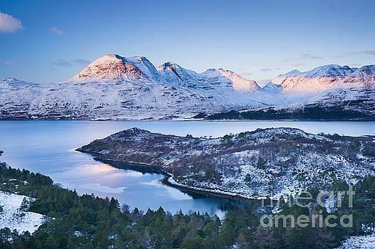 Winter view of Beinn Alligin from across Loch Torridon by Justin Foulkes
