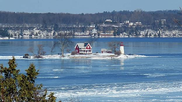Winter View of Crossover Island by Dennis McCarthy
