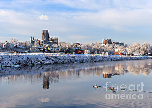 Winter view of river Wear at Durham by Bryan Attewell