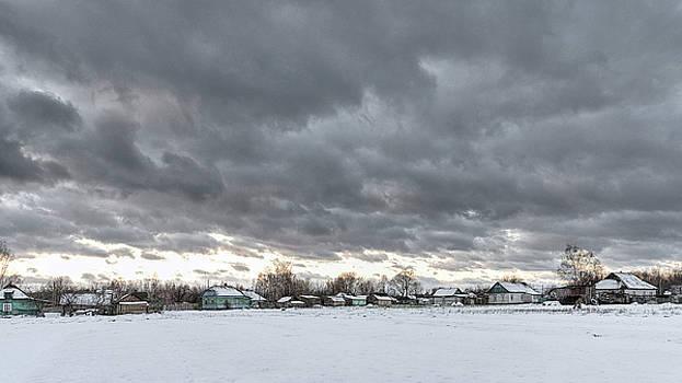 Winter village. Shchymel, 2017. by Andriy Maykovskyi