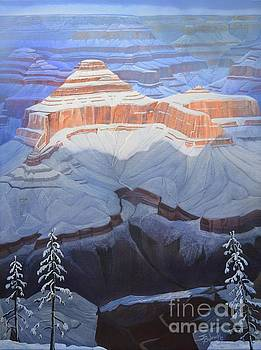 Winter Visits The Canyon by Jerry Bokowski