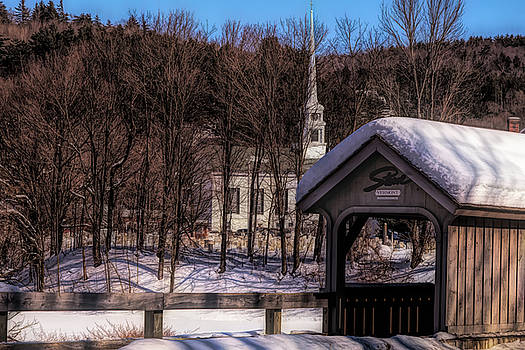 Winter Walkway Stowe Vermont by Jeff Folger