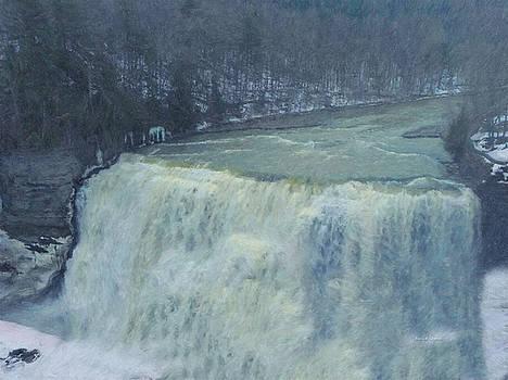 Angela A Stanton - Winter Waterfall