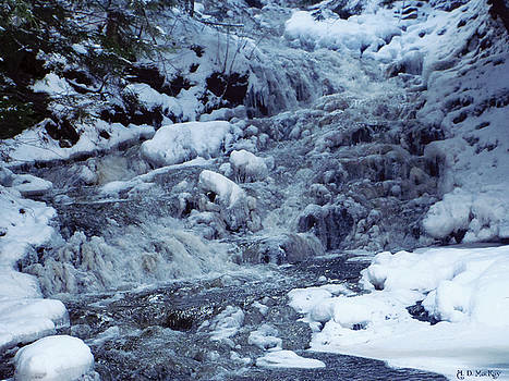 Celtic Artist Angela Dawn MacKay - Winter Waterfall