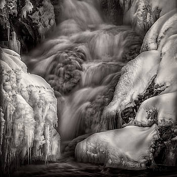 Winter Waterfall Snow and Ice by Bob Orsillo