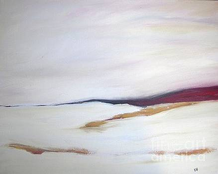 Winter - white abstract landscape by Vesna Antic