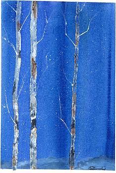 Winter White Birch by Wendy Cunico