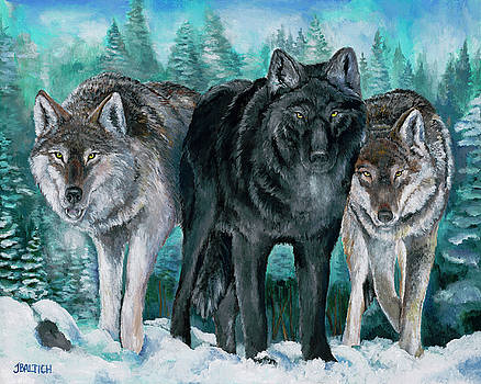 Winter Wolves by Joe Baltich