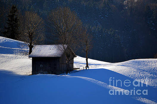Susanne Van Hulst - Winter Wonderland in Switzerland - The Barn in the Snow