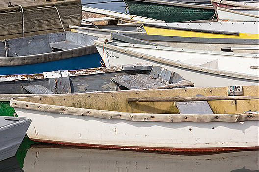 Winterport Dories Abstract by Peter J Sucy