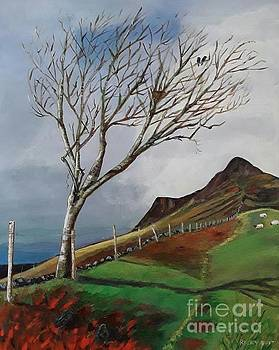 Winter's Day at Yewbarrow -painting by Veronica Rickard