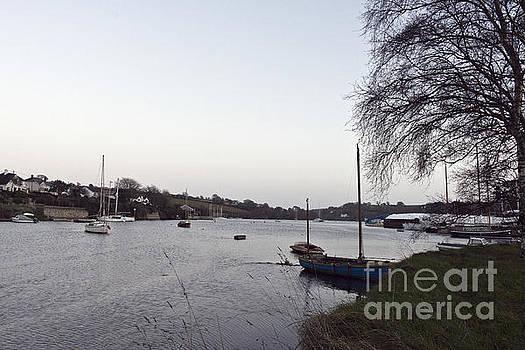 Winter's Day Dusk in Mylor Bridge by Terri Waters