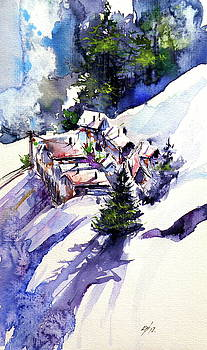 Wintertime village by Kovacs Anna Brigitta