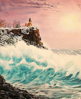 Wintery Northern Lighthouse  by Ruanna Sion Shadd a'Dann'l Yoder