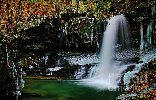 Barbara Bowen - Wintery Waterfalls crop