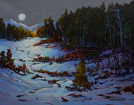 Wintry Moon on the Meadow by Catherine Robertson