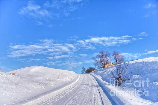 Wintry road takes you... by Veikko Suikkanen