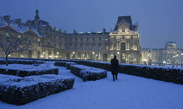 Wintry walks at the Tuileries garden by Kamala Saraswathi