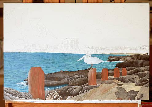 WIP- Pelican 01 by Cindy D Chinn