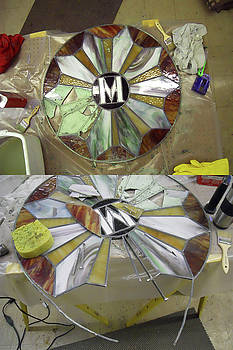 WIP-Stain Glass by Cindy D Chinn