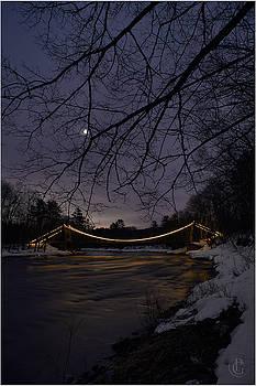 Wire Bridge Moon by Patrick Groleau