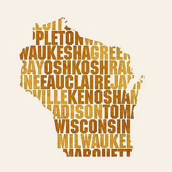Design Turnpike - Wisconsin State Outline Word Map