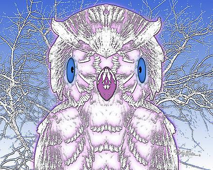 Wise Owl #077 by Barbara Tristan