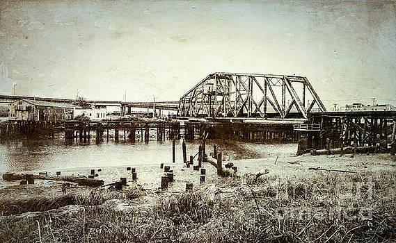 Wishkah River Swing Bridge by Sharon Seaward