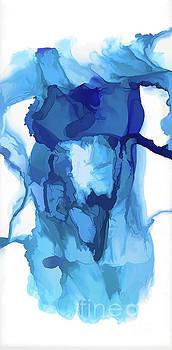 Wispy Blue Female Abstract - Alcohol Ink Art by Kerri Farley