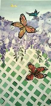 Wisteria and the Butterflies by Lee Green