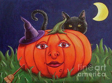 Witch Pumpkin by Rebecca Tiano