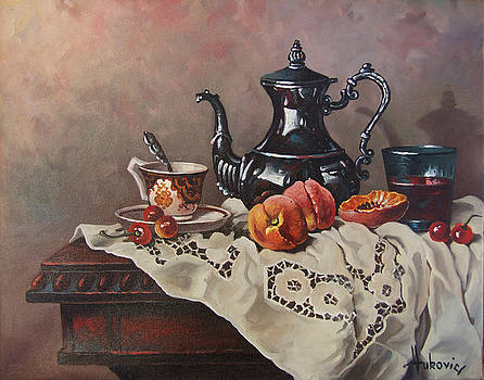 With Afternoon Tea by Dusan Vukovic