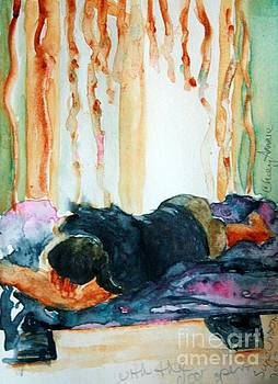 With the Door Open watercolor by CheyAnne Sexton by CheyAnne Sexton