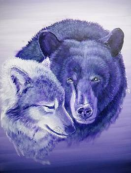Wolf And Bear by Curtis Mitchell