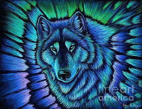 Wolf Aurora by Rebecca Wang