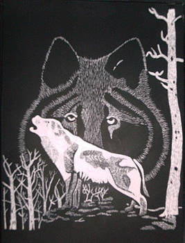 Wolf on Hill by Chris Hedges