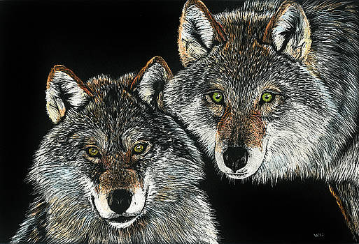 Wolf Pair by William Underwood