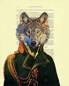 Wolf portrait illustration by Madame Memento