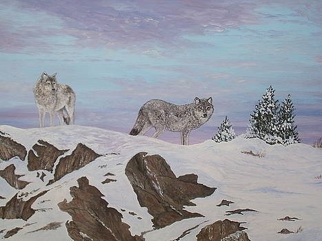 Wolves at Twilight by Patti Lennox