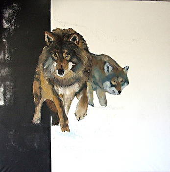 Wolves in Scandinavia by Cass Oest