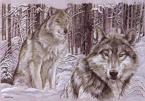 Wolves in the Snow by Morgan Fitzsimons