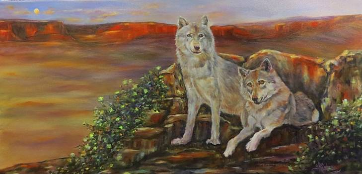On the Lookout, Wolves  by Sandra Cutrer