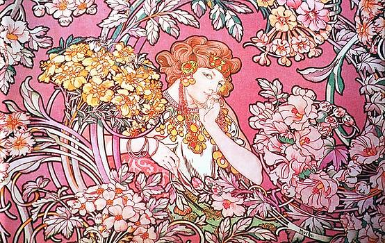 Alphonse Mucha - Woman Among The Flowers