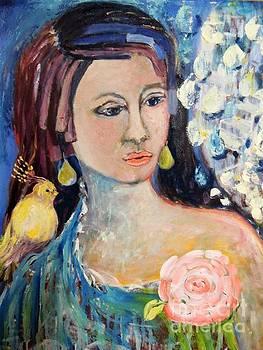Woman And Bird by Geraldine Liquidano