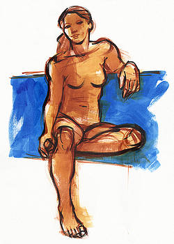 Judith Kunzle - Woman and blue