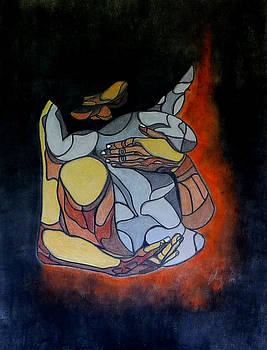 Woman and Child by Sarojit Mazumdar