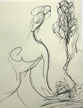 Woman  And Tree by Nataliya Yutanova