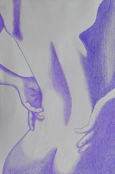 Woman Back Purple by Fanny Diaz
